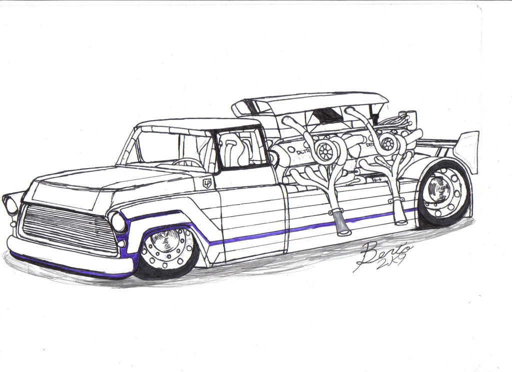 55 chevy coloring pages photo - 1