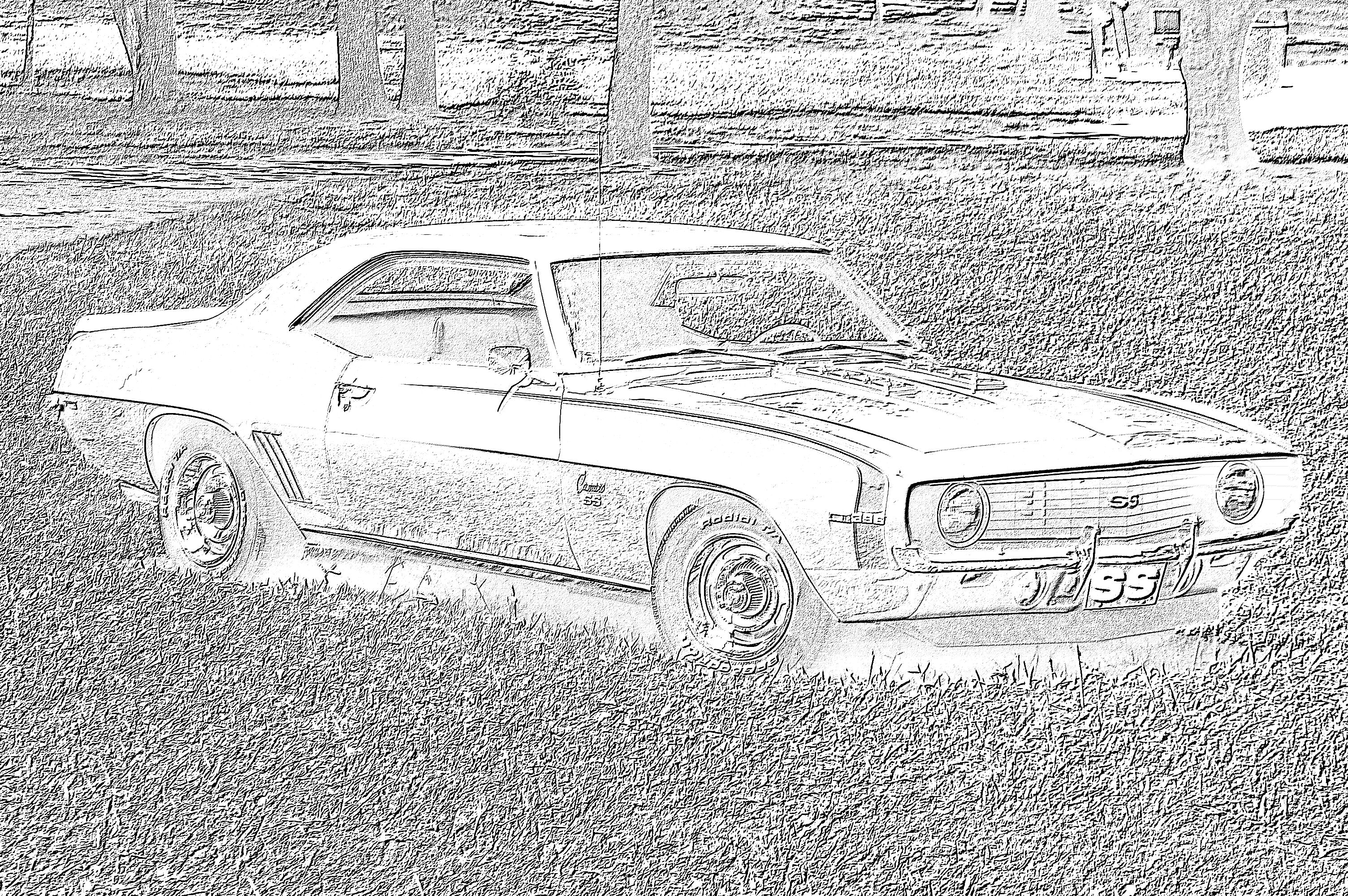 69 camaro coloring pages photo - 1