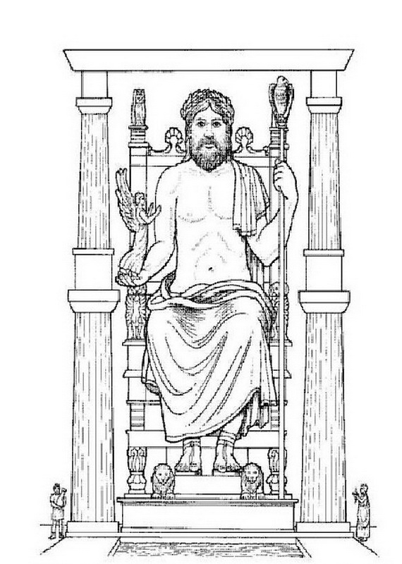 7 wonders of the ancient world coloring pages photo - 1