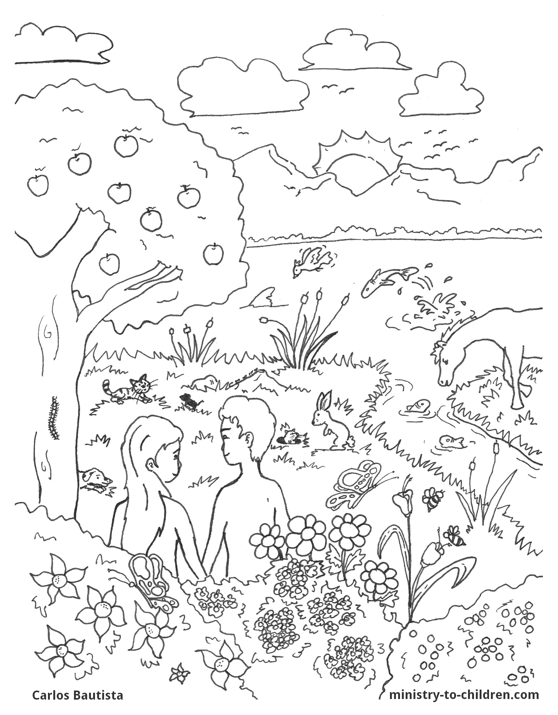 7th day of creation coloring page photo - 1