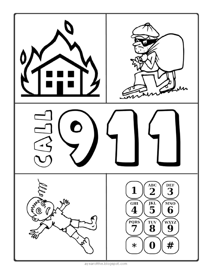 911 coloring page photo - 1