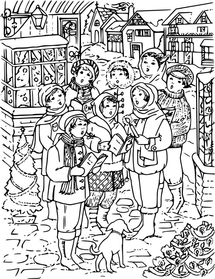 a christmas carol coloring pages to print photo - 1