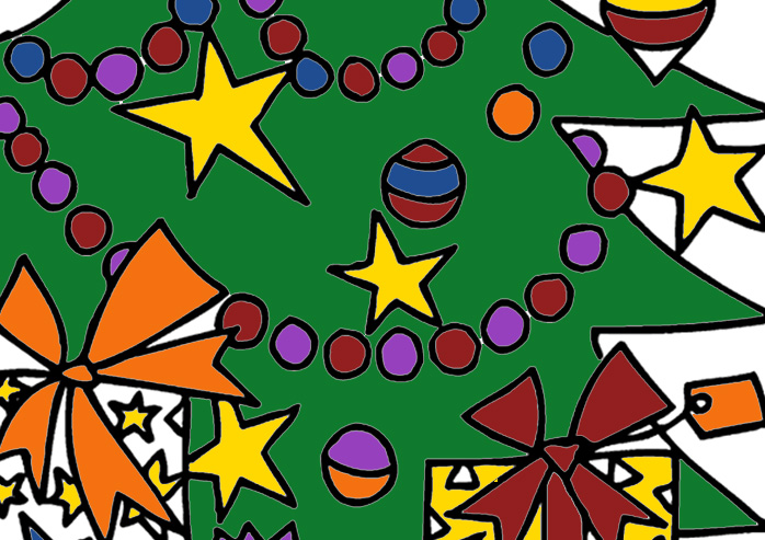 a christmas tree coloring page photo - 1