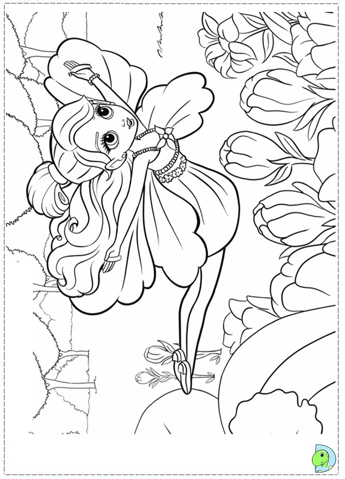 a coloring page of barbie photo - 1