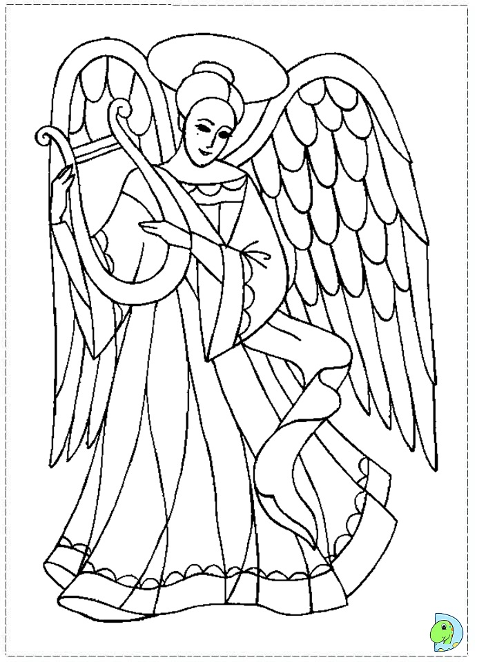 a coloring page of christmas photo - 1
