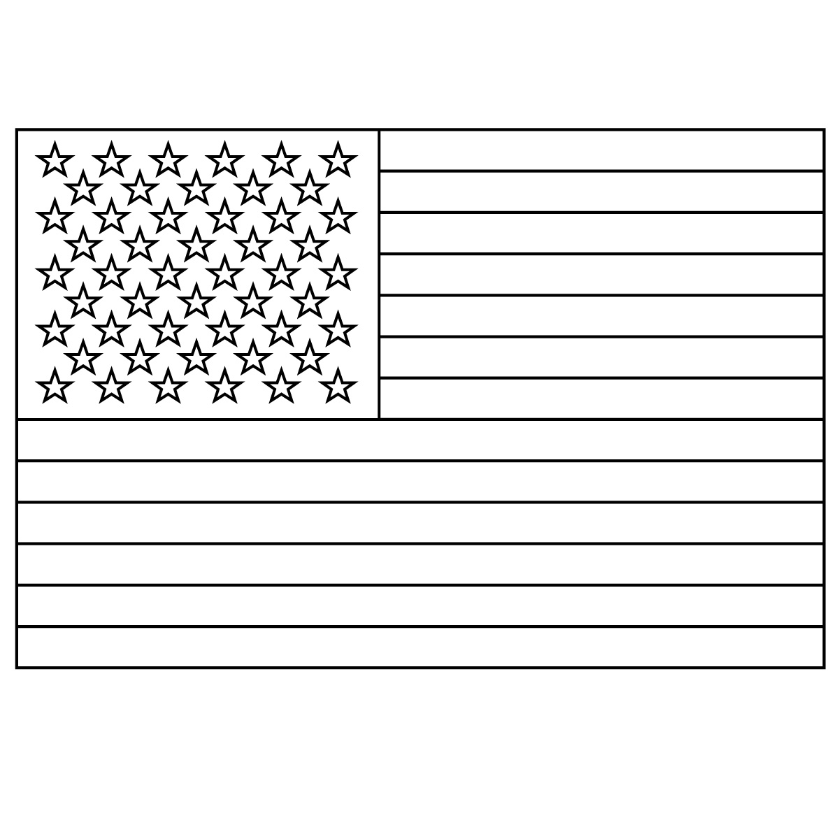 a coloring page of the american flag photo - 1