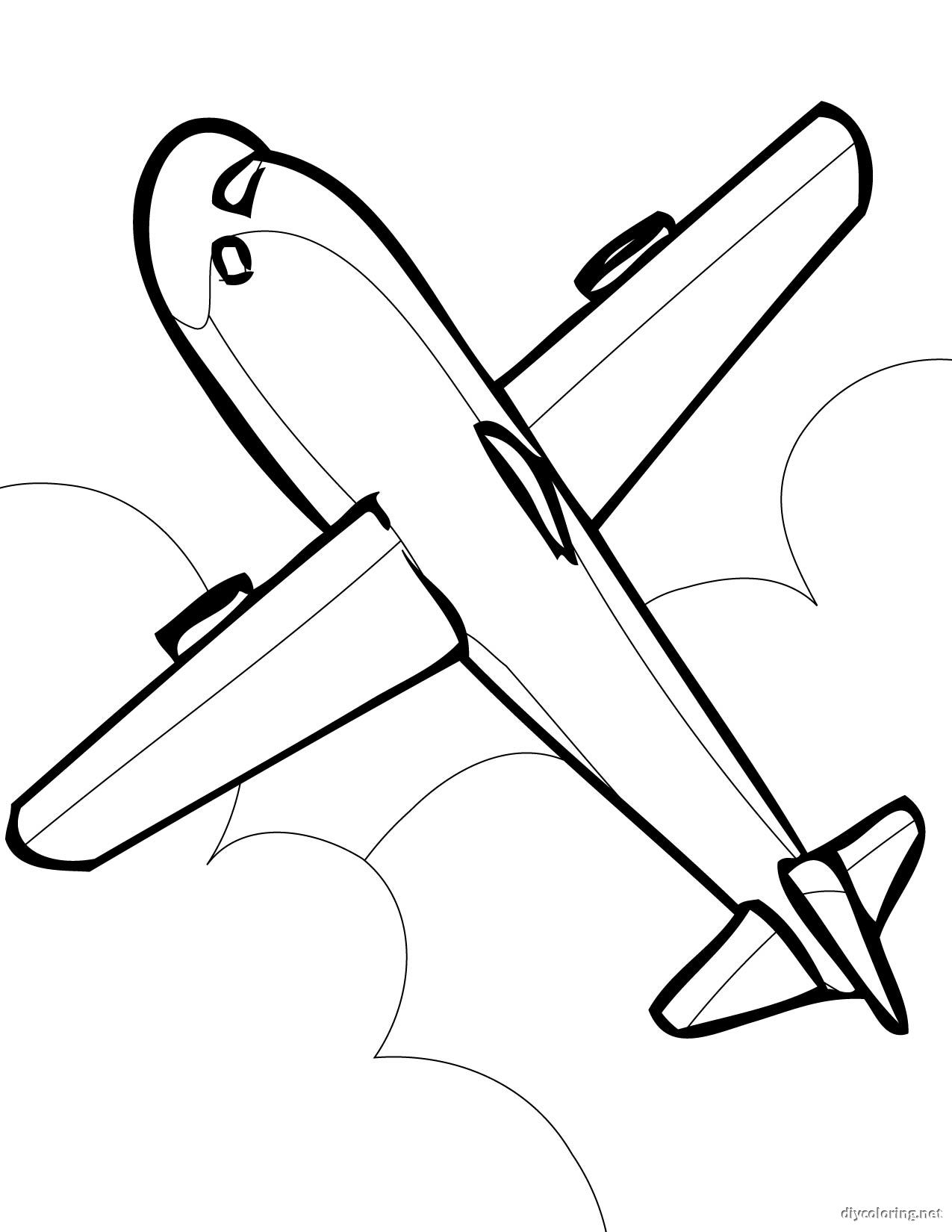 a for airplane coloring page photo - 1