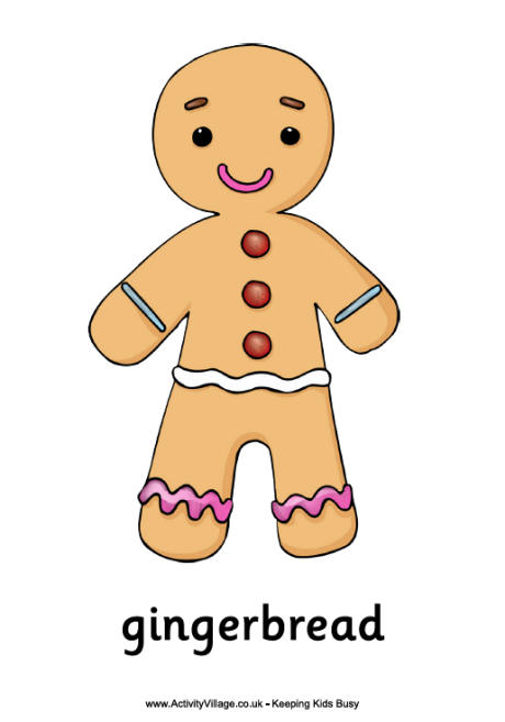 a gingerbread man coloring page photo - 1