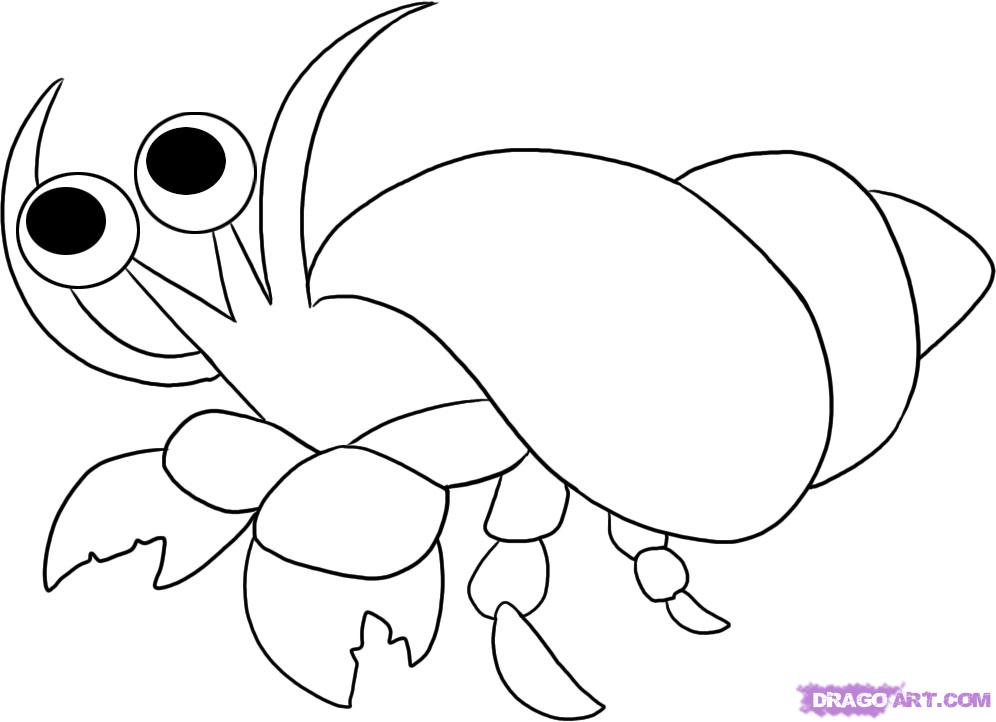 a house for hermit crab coloring page photo - 1