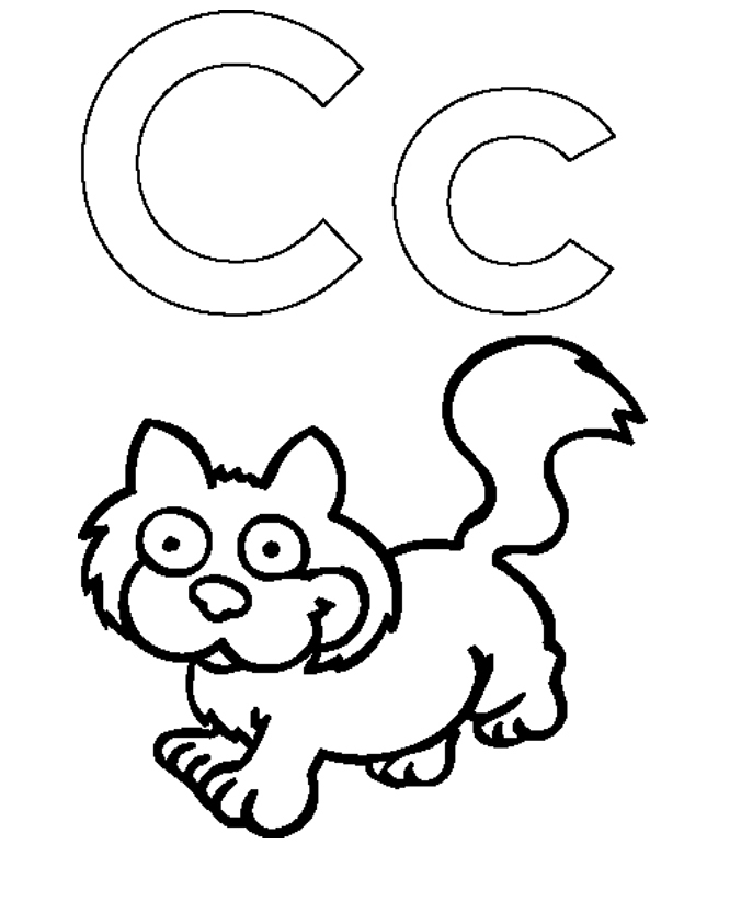 a letter coloring pages photo - 1