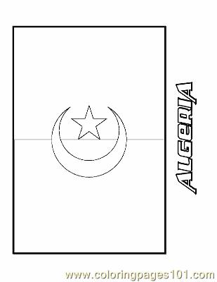 algeria flag coloring page photo - 1