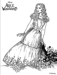 alice in wonderland 2010 coloring pages photo - 1