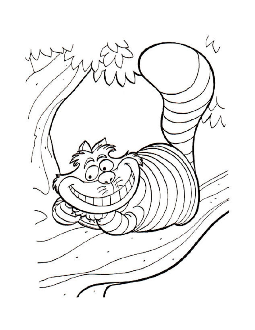 alice in wonderland characters coloring pages photo - 1