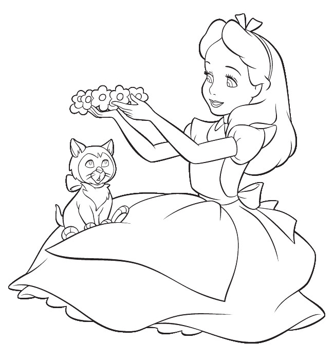 alice in wonderland coloring pages online photo - 1