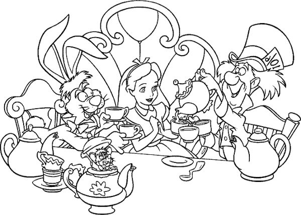 alice in wonderland printable coloring pages photo - 1