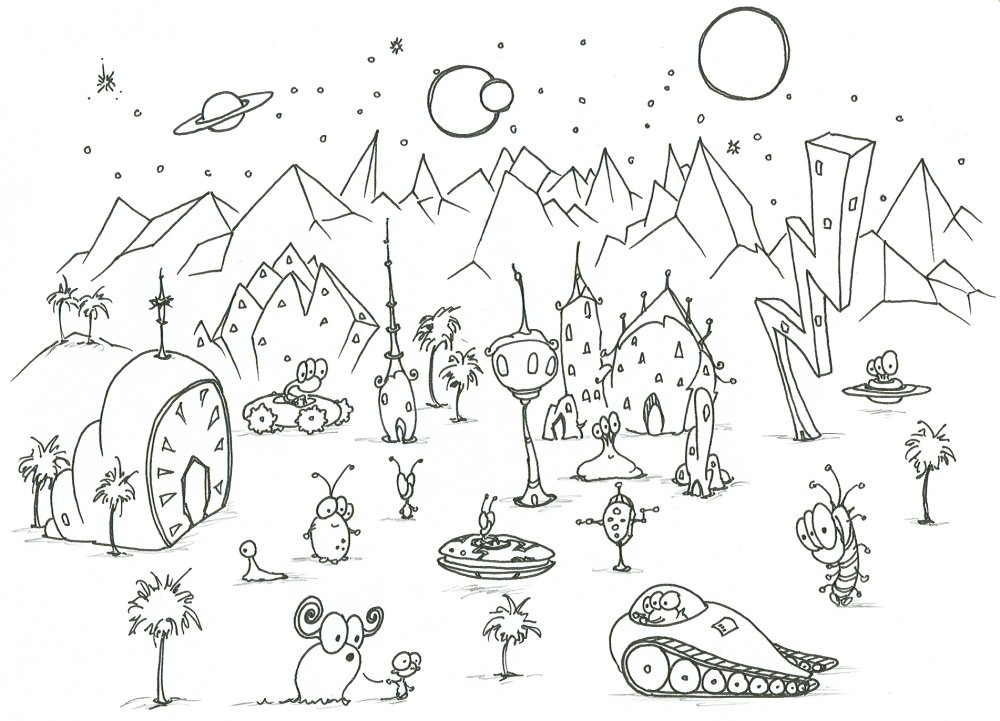 alien predator coloring pages photo - 1