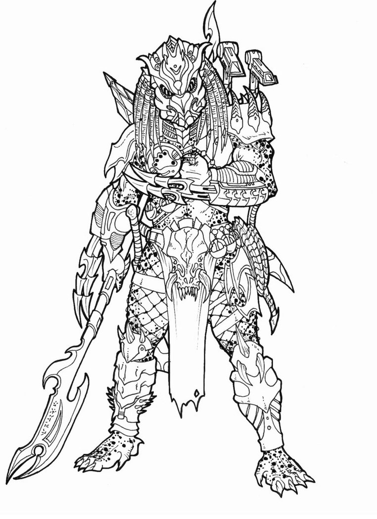 alien vs predator coloring pages photo - 1