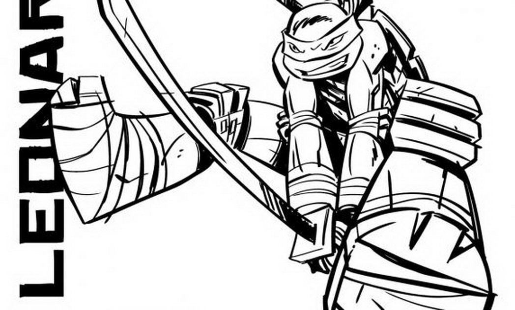 all four teenage mutant ninja turtles coloring pages photo - 1