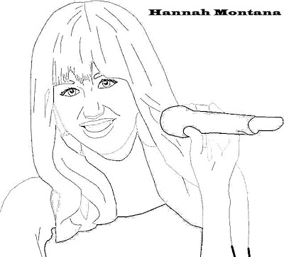 all hannah montana coloring pages photo - 1