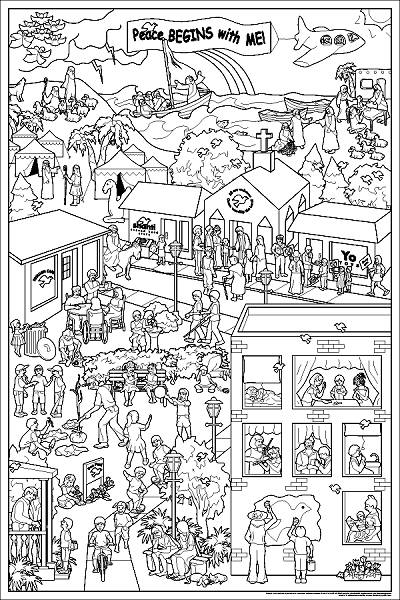 all saints day coloring pages photo - 1