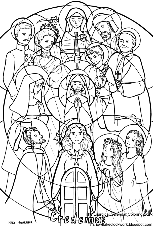 all saints day coloring pages printable photo - 1