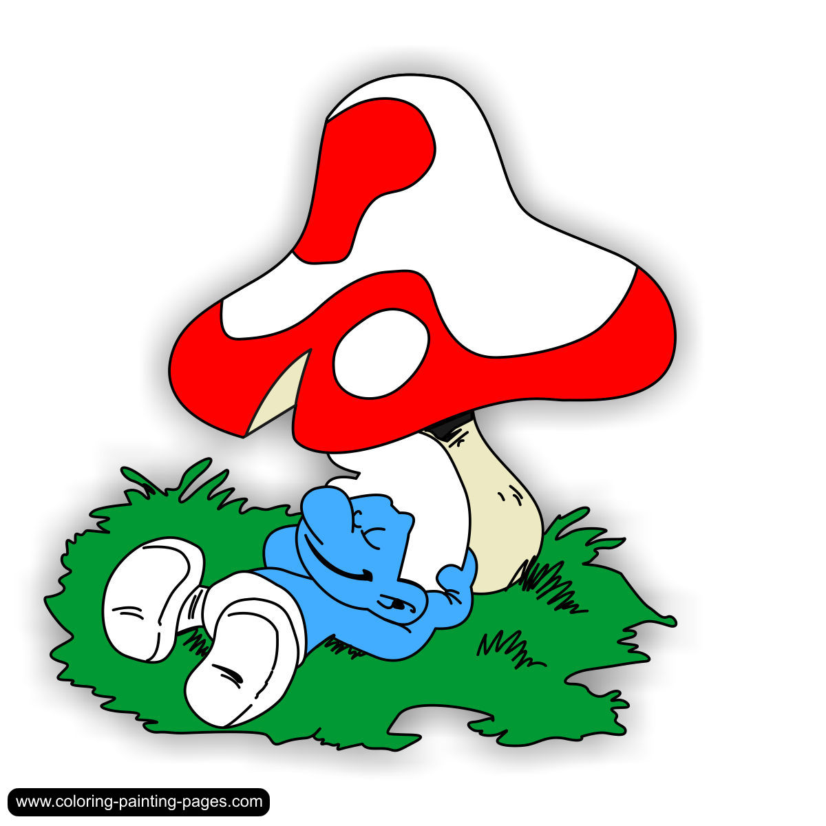 all the smurfs coloring pages photo - 1