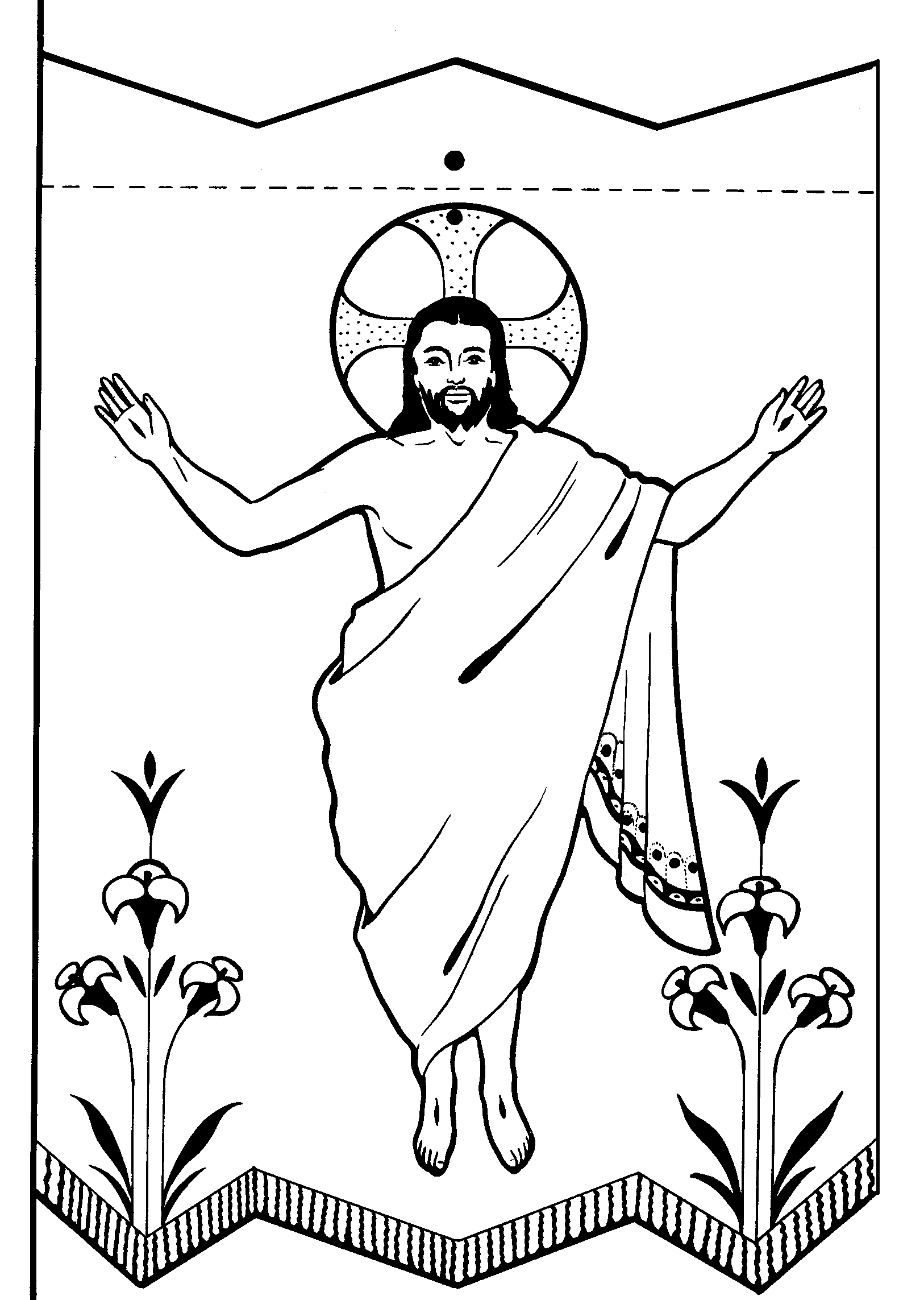 alleluia coloring page photo - 1