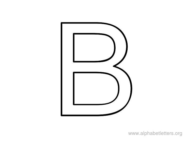 alphabet coloring pages letter b photo - 1