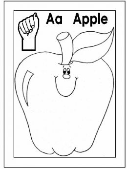 alphabet coloring pages with sign language photo - 1