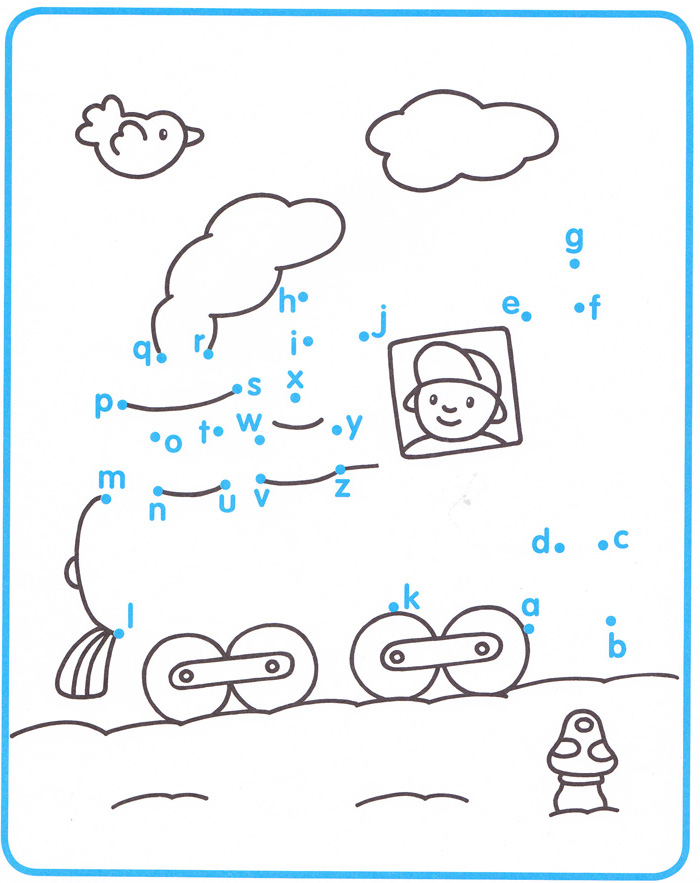alphabet dot to dot coloring pages photo - 1