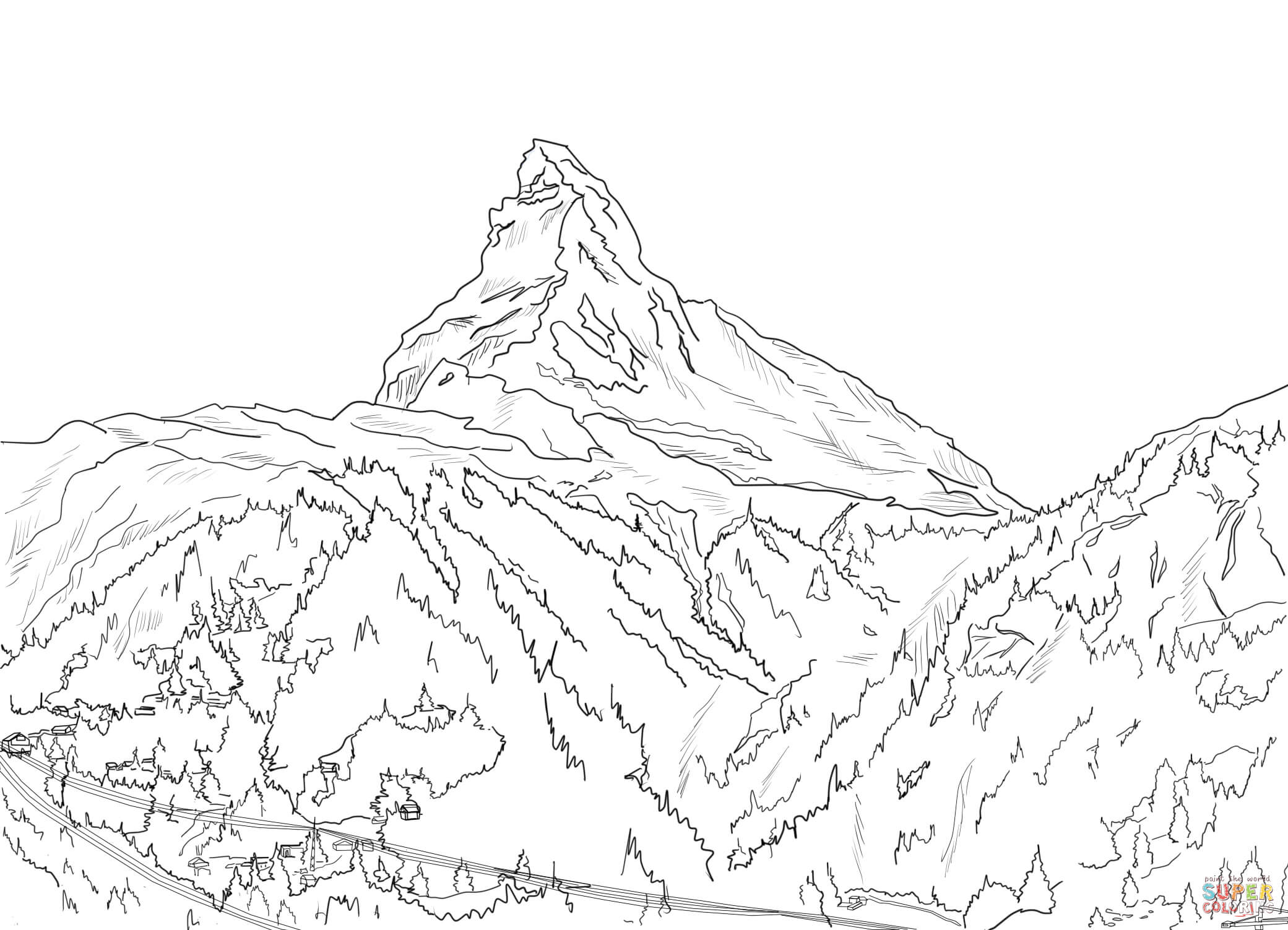 alps coloring pages photo - 1