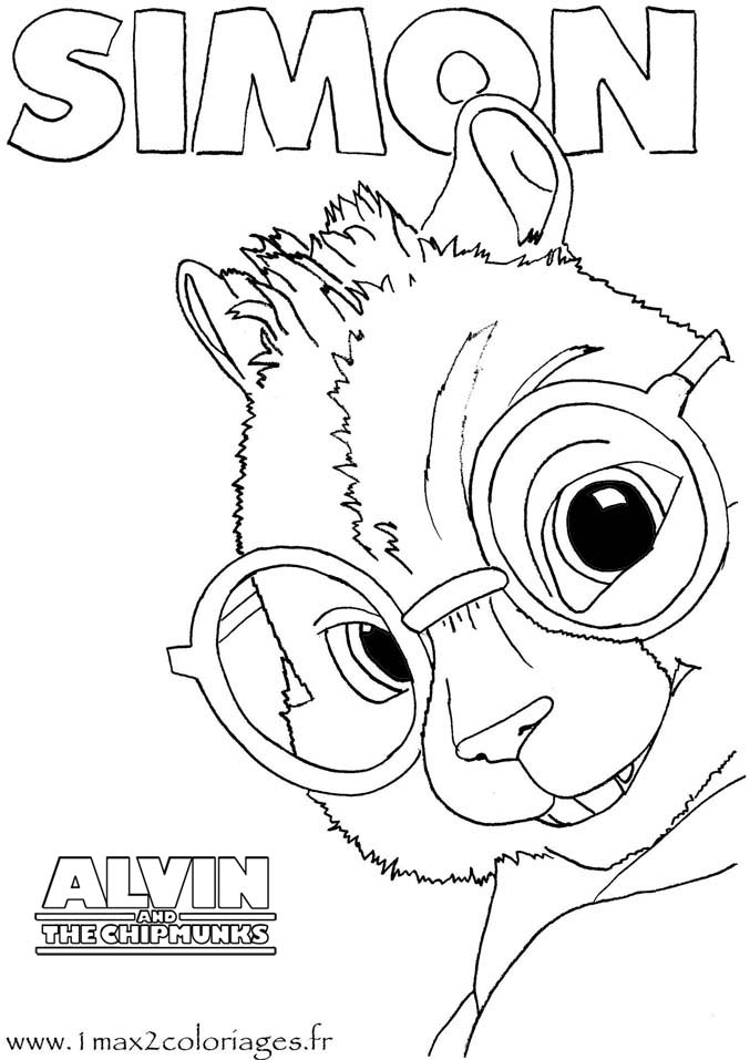 alvin and chipmunk coloring pages photo - 1