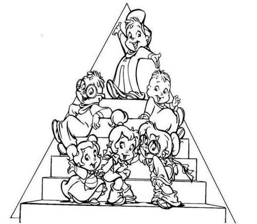 alvin and the chipmunks 3 coloring pages photo - 1