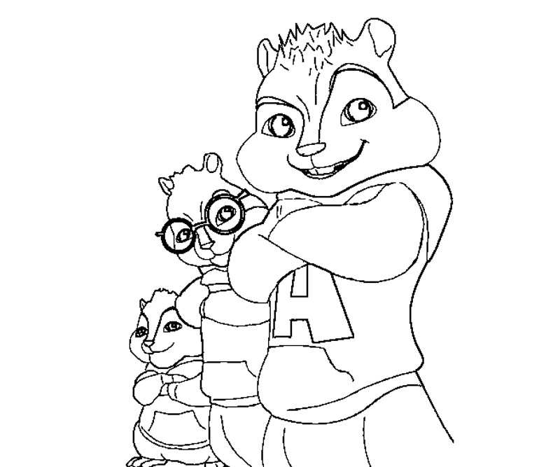 alvin and the chipmunks coloring pages free photo - 1