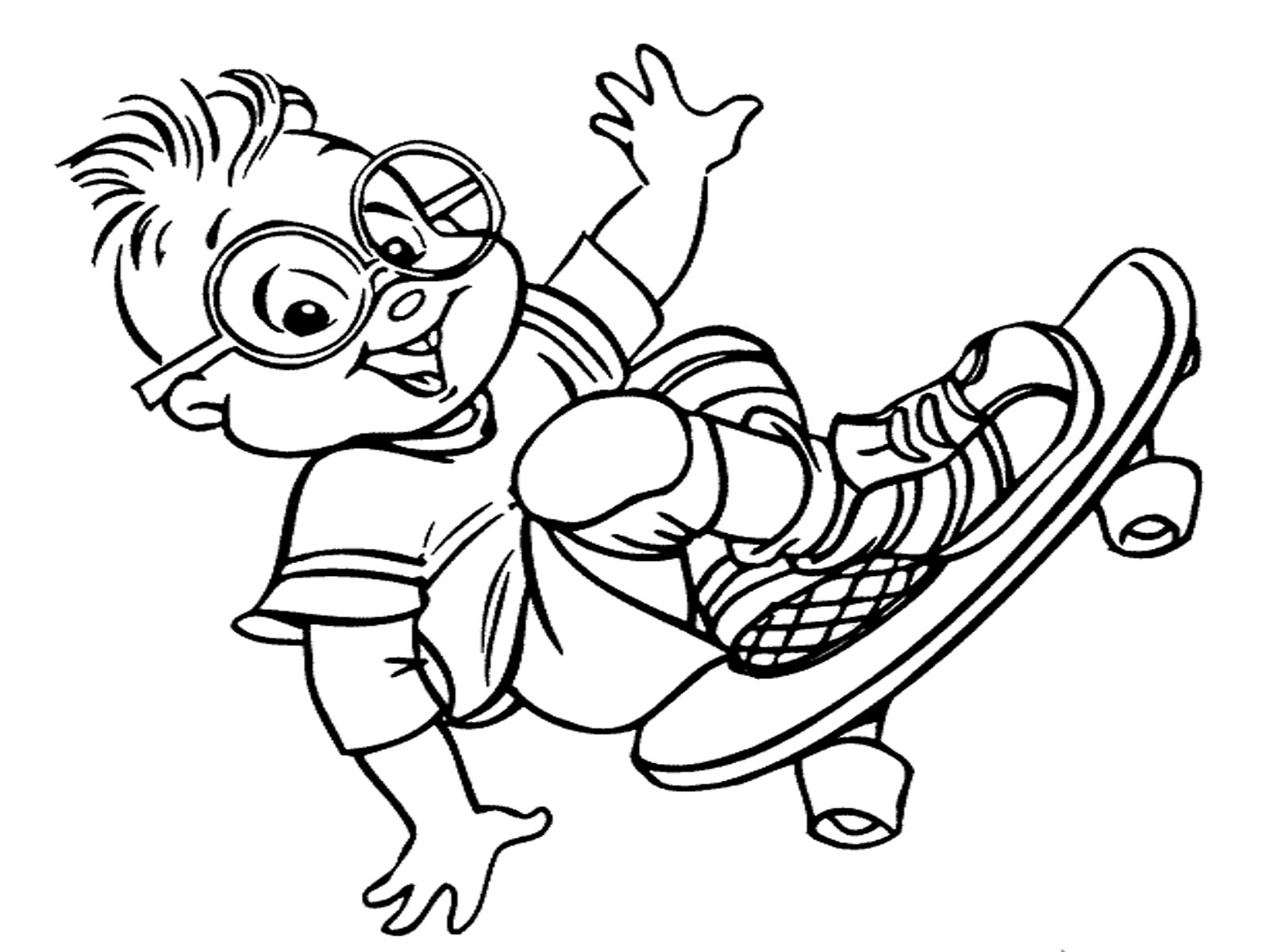 alvin and the chipmunks printable coloring pages photo - 1