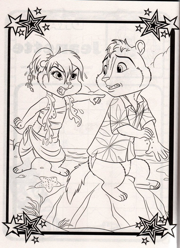 alvin chipmunks chipwrecked coloring pages photo - 1