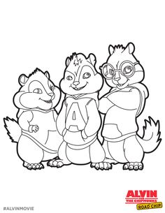 alvin chipmunks coloring pages free photo - 1