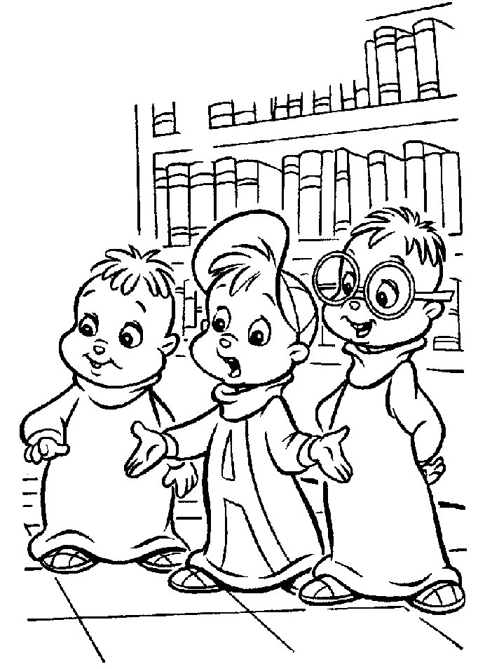 alvin chipmunks halloween coloring pages photo - 1
