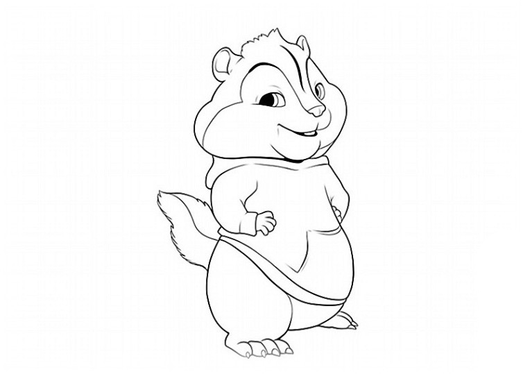 alvin coloring pages photo - 1