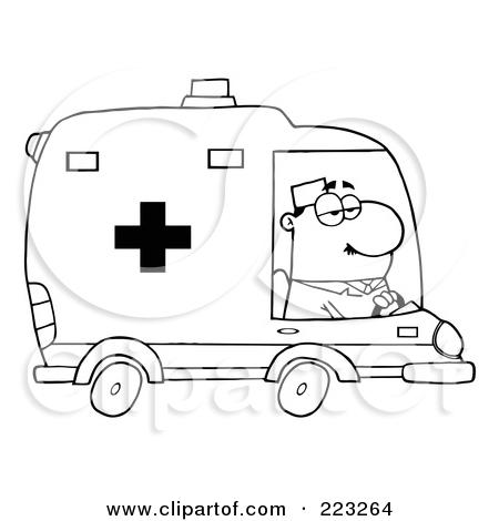 ambulance driver coloring page photo - 1