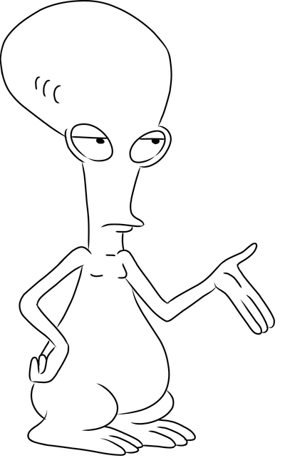 american dad coloring pages online photo - 1