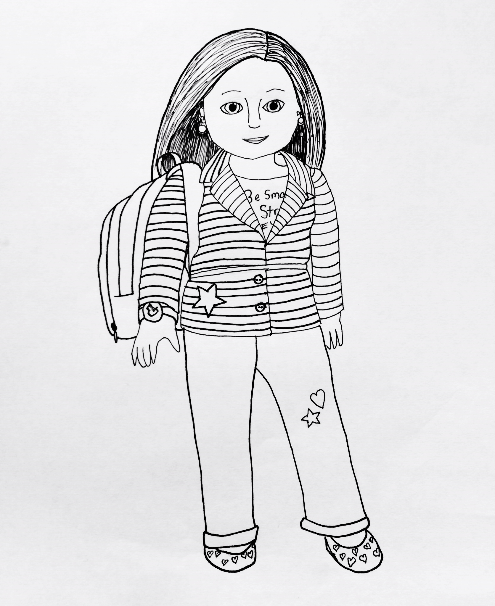 american doll printable coloring pages photo - 1
