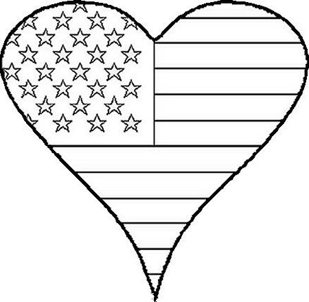 american flag clip art coloring page photo - 1