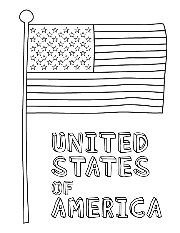 american flag coloring pages printable photo - 1