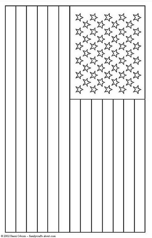 american flag pdf coloring page photo - 1