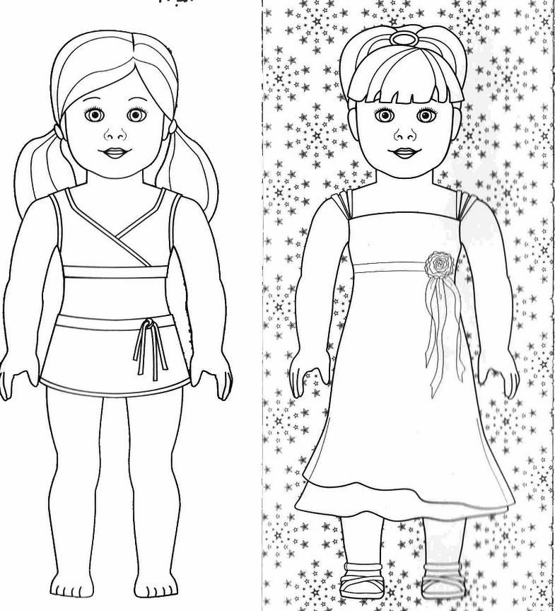 american girl coloring pages photo - 1