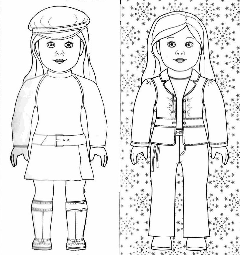 american girl coloring pages julie photo - 1