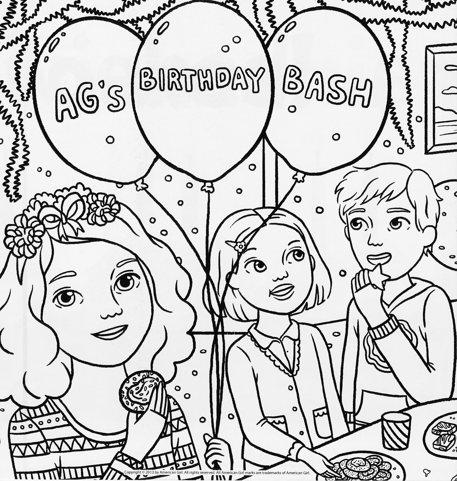american girl coloring pages rebecca photo - 1