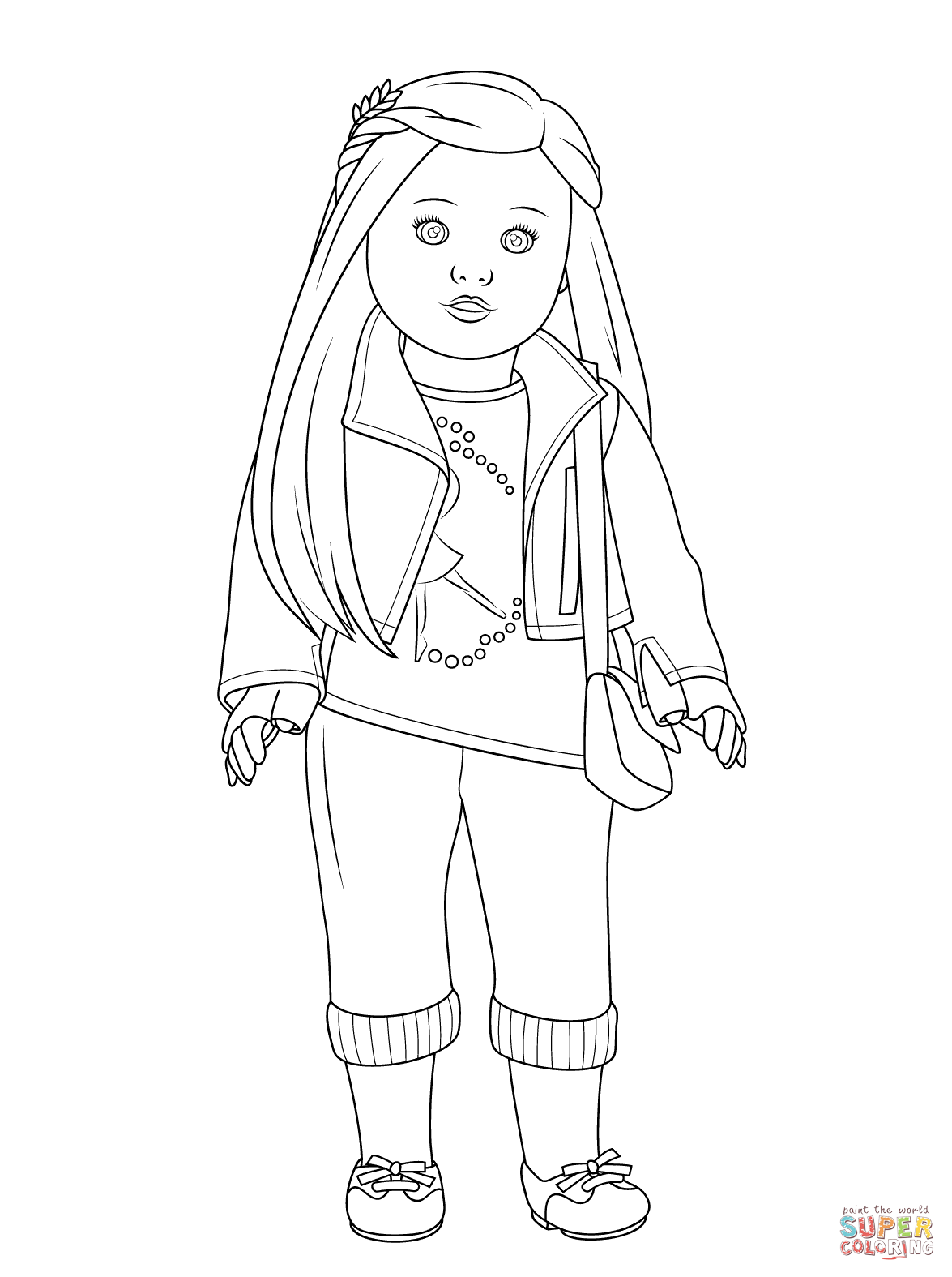 american girl coloring pages saige photo - 1