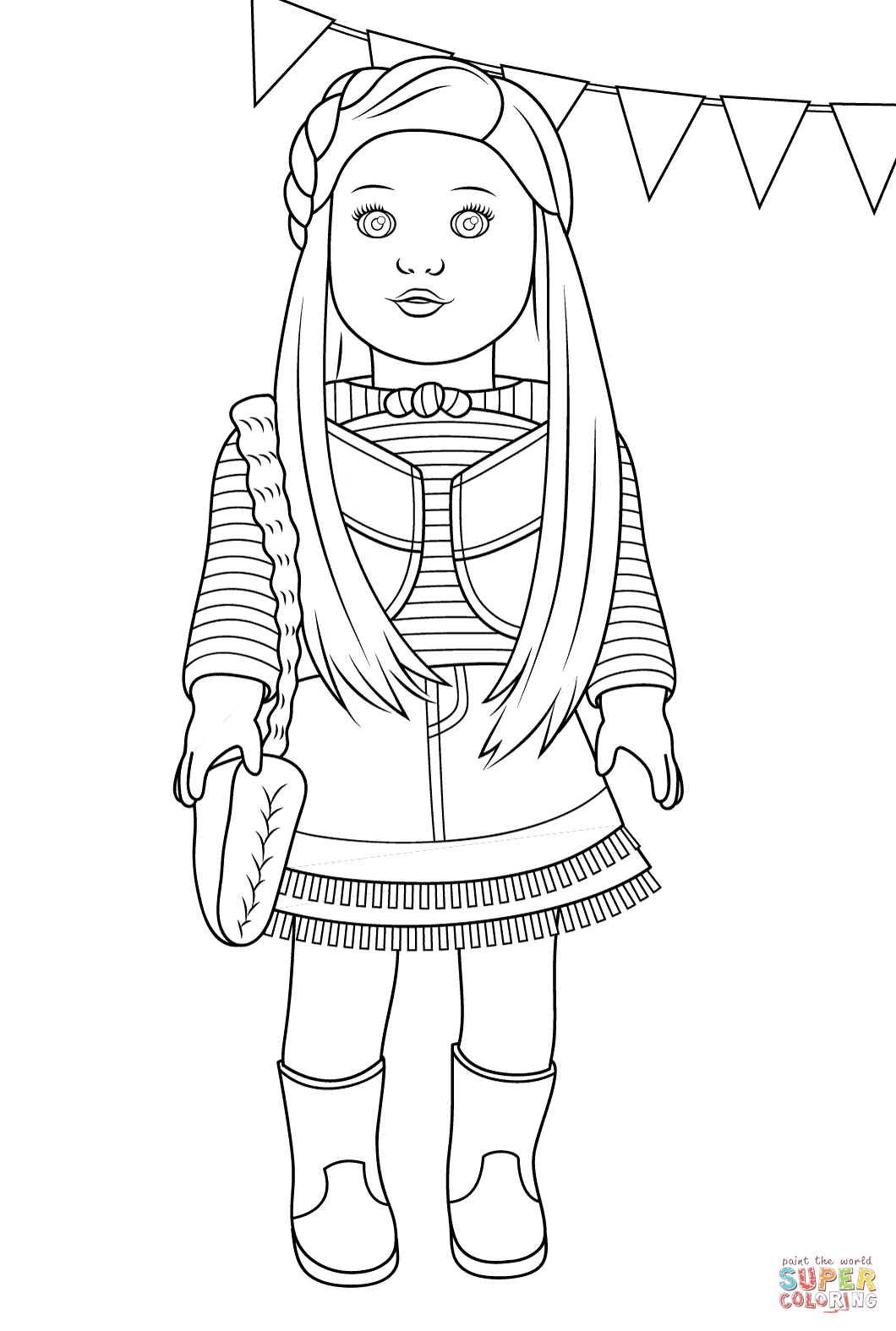 american girl doll coloring pages photo - 1